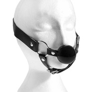 Bondage Ball Gag with Chin Strap