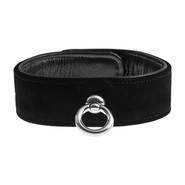 Ultimate Suede Leather Bondage Collar