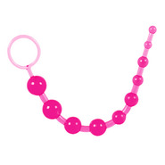 Pink Jelly Anal Beads