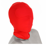 Spandex Hood and Blindfold - Red