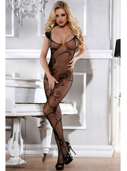 Bondara Crotchless Floral Bodystocking