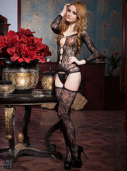 Autumn Crotchless Bodystocking