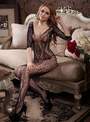 Crotchless Victoriana Bodystocking