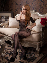 Crotchless Bow Detail Bodystocking