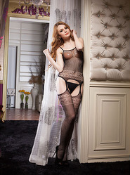 Romantic Lace Suspender Bodystocking