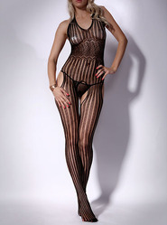 Pinstripe Bodystocking