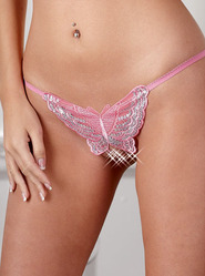 Crotchless Rose Butterfly String