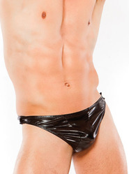 Wet Look Tear Away Thong
