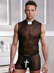 Confess Your Sins Two Piece Vicar Costume Set