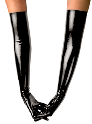 Bondara Latex Black Unisex Burlesque Gloves