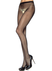 Leg Avenue Plus Size Sheer Crotchless Tights