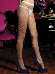 Seven Til Midnight Fishnet Tights in White