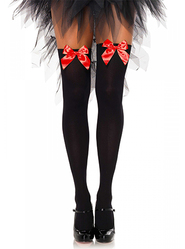 Leg Avenue Thigh High Socks with Red Bows
