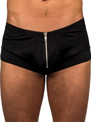 Bondara Zip Detail Black Shorts