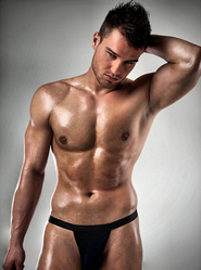 Men's Black Cotton Thong
