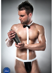 Men's Wet Look Waiter Bodysuit
