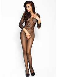 Fishnet Floral Bodystocking