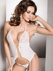 Passion White Lace Corset