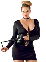 Cottelli Collection Plus Size Corset Dress Set