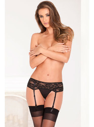 Rene Rofe Lace Suspender Belt