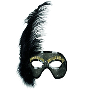 Feathers and Sequins Eye Mask