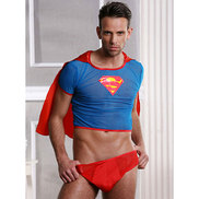Bondara Sexy Superhero Two Piece Costume Set