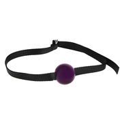 Small Purple Silicone Ball Gag
