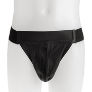 Supersoft Black Leather Jock Strap