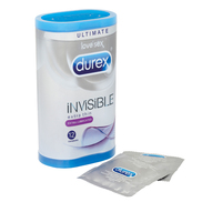 Durex Invisible Extra Lubricated Condoms- 12 Pack