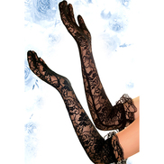 Bondara Floral Long Lace Gloves