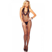 Leg Avenue Plunge Fishnet Bodystocking