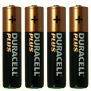 AAA Duracell Plus Batteries Pack of 4