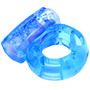 Bold Basics Blue Vibrating Cock Ring